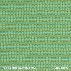 Children's Fabric (Jersey) - Hearts With Dot Green