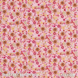 Children's Fabric - Field Flowers Pink