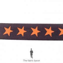 Elastic Band Star two-color 40mm -  (25 Meter)